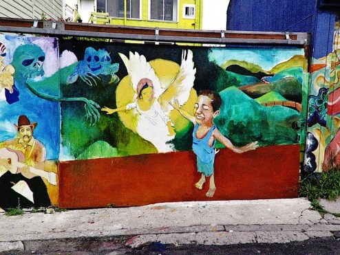 angels in flight in clarion alley, SF