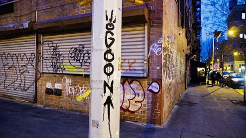 goon graffiti on the lower east side of NYC