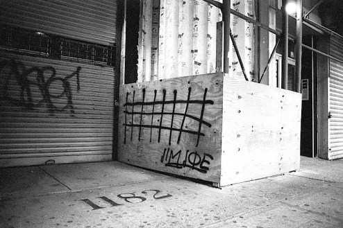 jim joe graffiti in NYC shot with a nikon f4