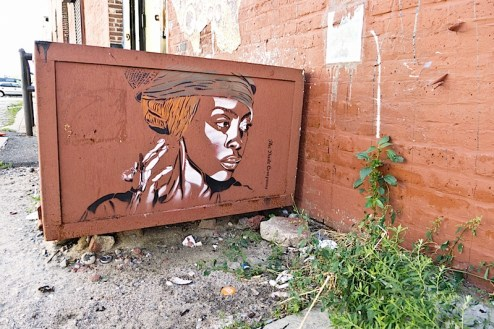 street art by the dude company found in williamsburg, brooklyn
