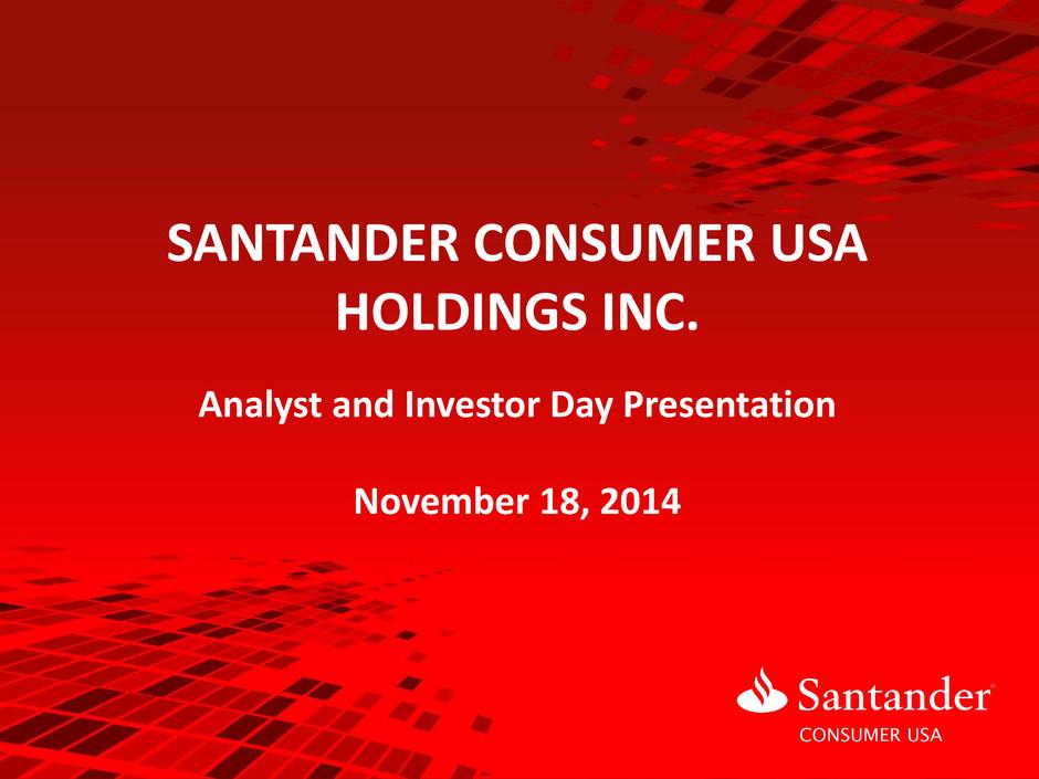 Form 8-K Santander Consumer USA For Nov 18
