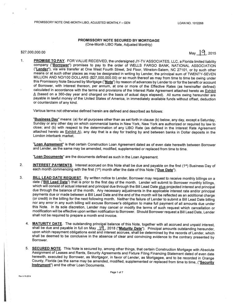 mortgage agreement form – Security Agreement