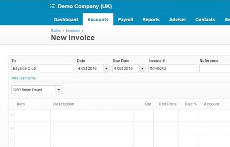 How to raise sales invoices quickly in Xero u2013 Streets Chartered - sales invoices