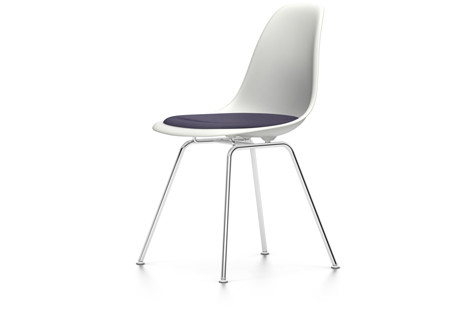 Vitra Eames Plastic Side Chair Dsx Sitzschale Weiss Mit Sitzpolster Stuhle  Designshop Streit