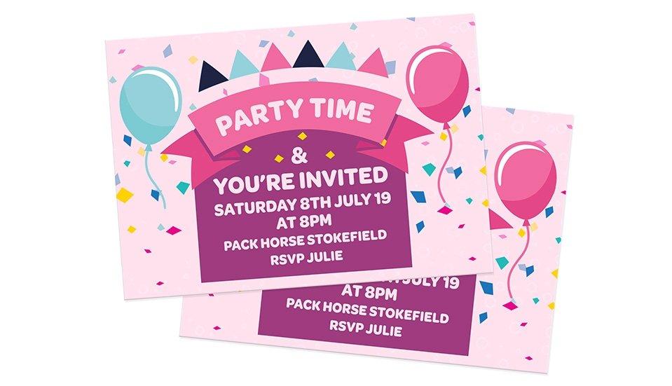Invitation Card Printing - StressFreePrint