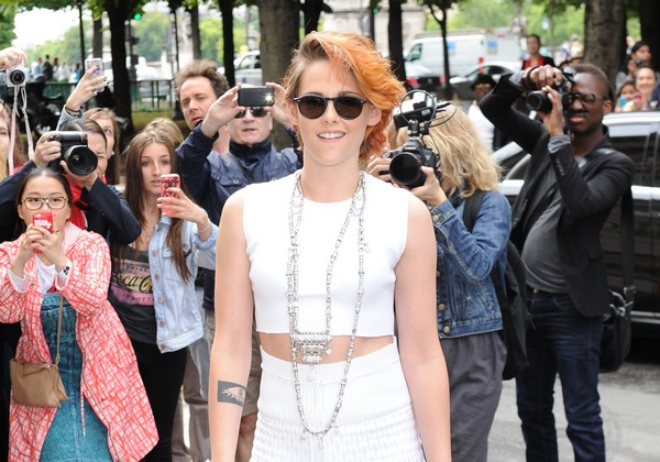 Kristen Stewart Seen at Chanel, haute couture fashion show, paris