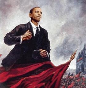 Obama Lenin pose