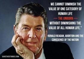 Reagan Abortion quote