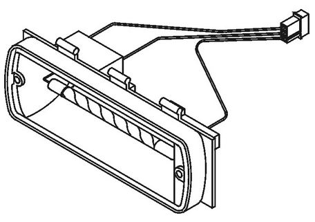 Whelen 500 Series Linear Strobe Tube/Reflector Assembly
