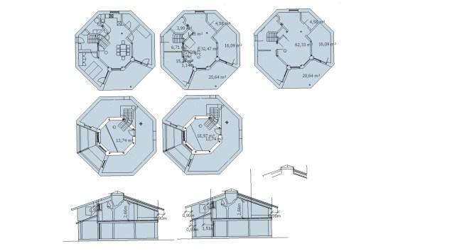 Entwurfsplan V4 Grundrissfläche 83m² + 19 m² Gallerie brutto