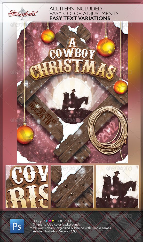 5 Christmas Flyer Templates - Strongholdbrand - Graphic Design