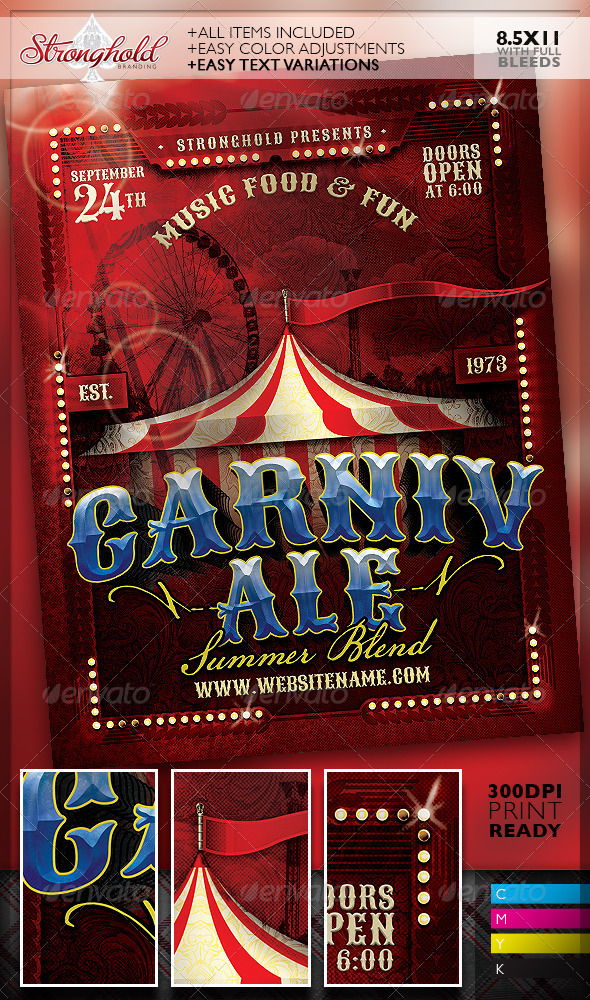 BEST CIRCUS  CARNIVAL FLYER TEMPLATES - Strongholdbrand