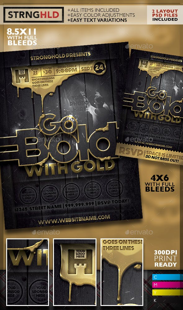 Best Selling Flyer Template - January - Strongholdbrand