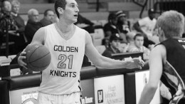 A former student at Archbishop Molloy High School, Chris Dorgler  is currently a senior red shirt on the Saint Rose basketball team. PHOTO COURTESY OF SAINT ROSE ATHLETICS