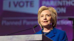 Hillary Clinton speaking at the Washington Hilton on June, 2016. Photo via WIKIMEDIA COMMONS