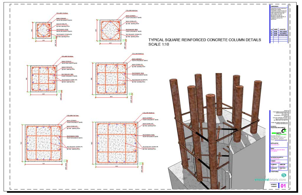 L-shaped Corner Reinforced Concrete Column reinforcement details - structural engineer job description