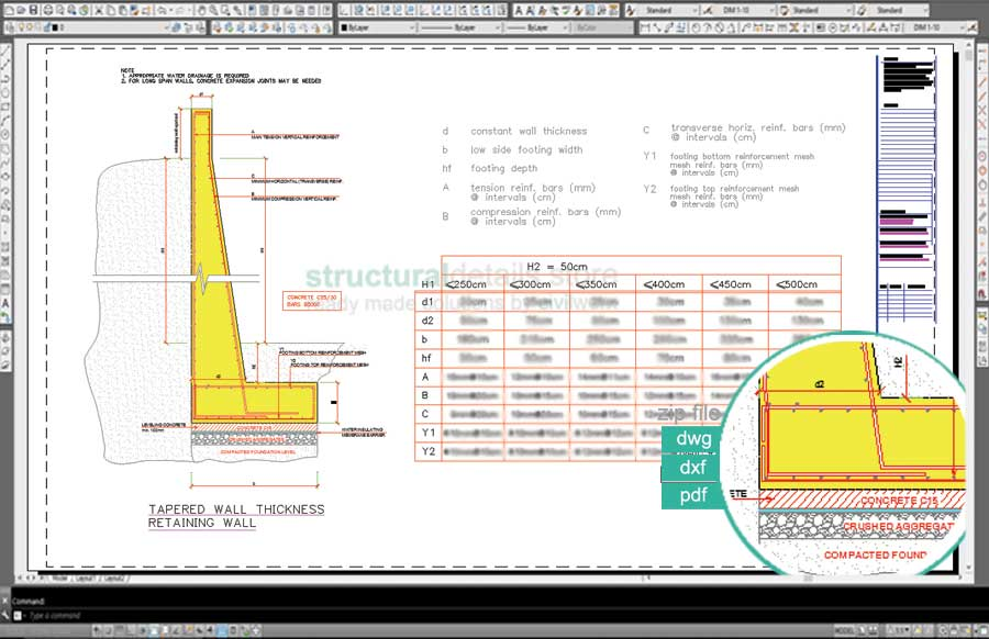 Design Of Reinforced Concrete Retaining Walls RC retaining wall - Design Of Retaining Walls Examples