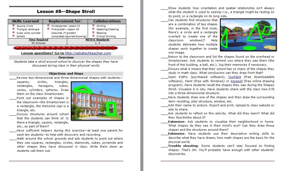 Kindergarten Lesson Plans - Structured Learning