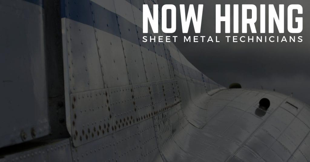 Now Hiring Aircraft Sheet Metal Technicians in Dallas, Texas