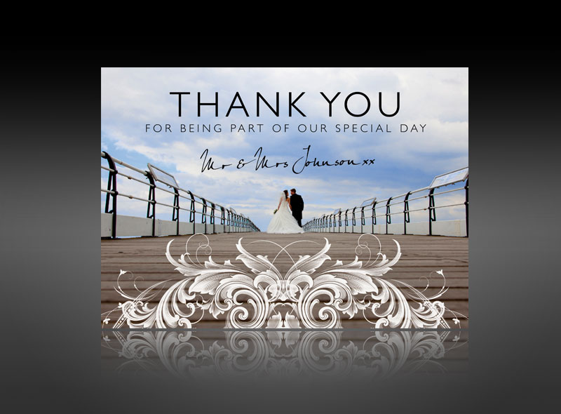 Thank You Cards Invitations Wedding Baby