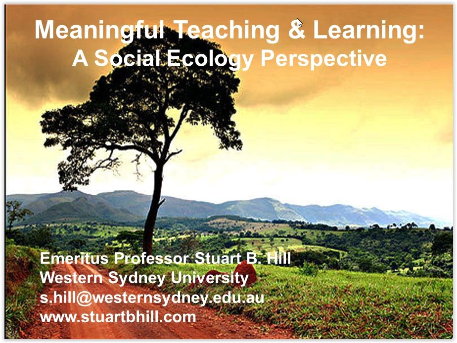 Social Ecology for Educators