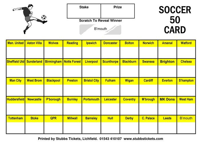 football scratch card template - 28 images - 10 football
