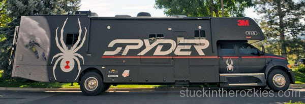 The Spyder Volcano Tour bus