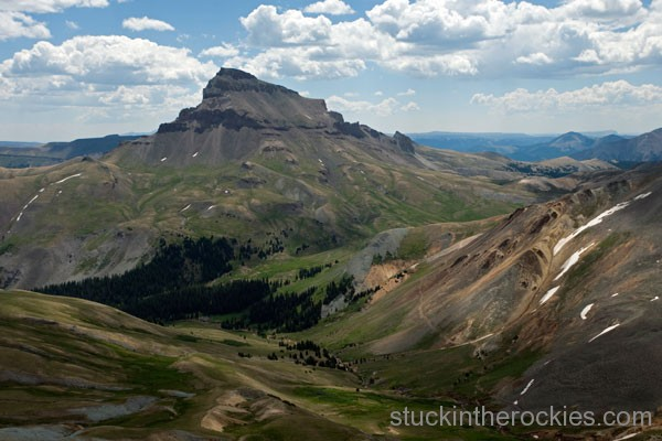 coxcomb peak cimarron creek uncompahgre peak, East Fork Pass