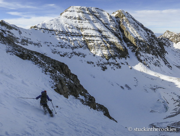 ski 14ers, castle peak, christy mahon