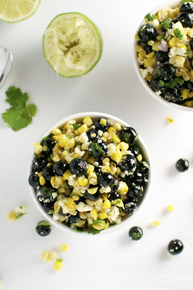 Blueberry Corn Salad | stuckonsweet.com
