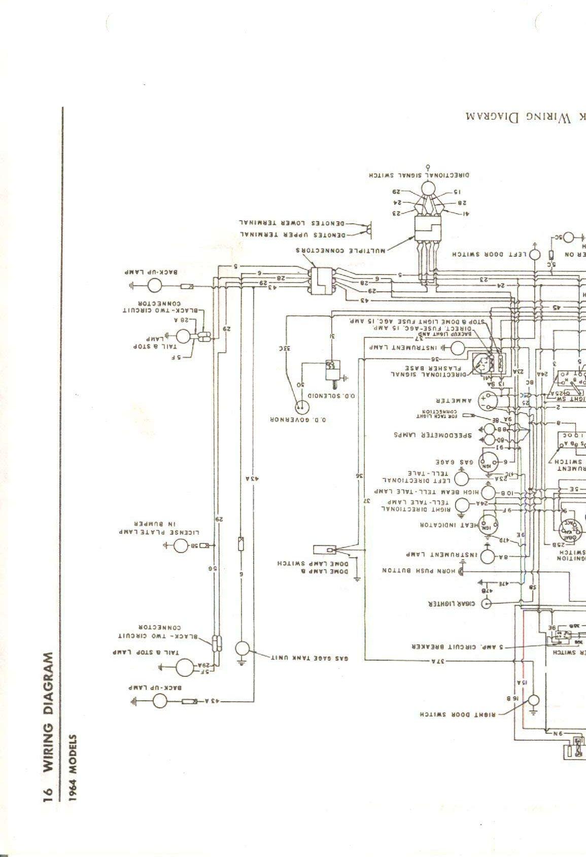 wiring diagram for 1963 64 studebaker avanti