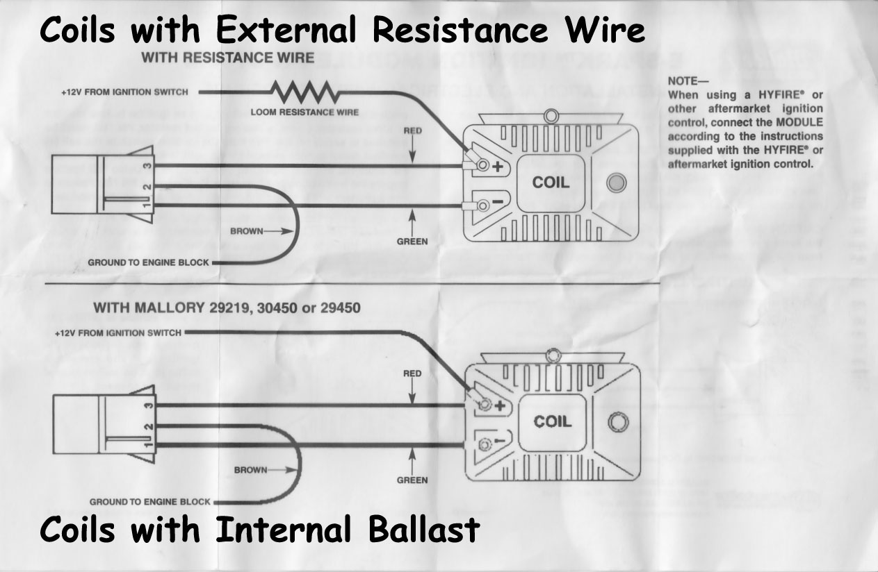 mallory distributor wiring diagram with msd