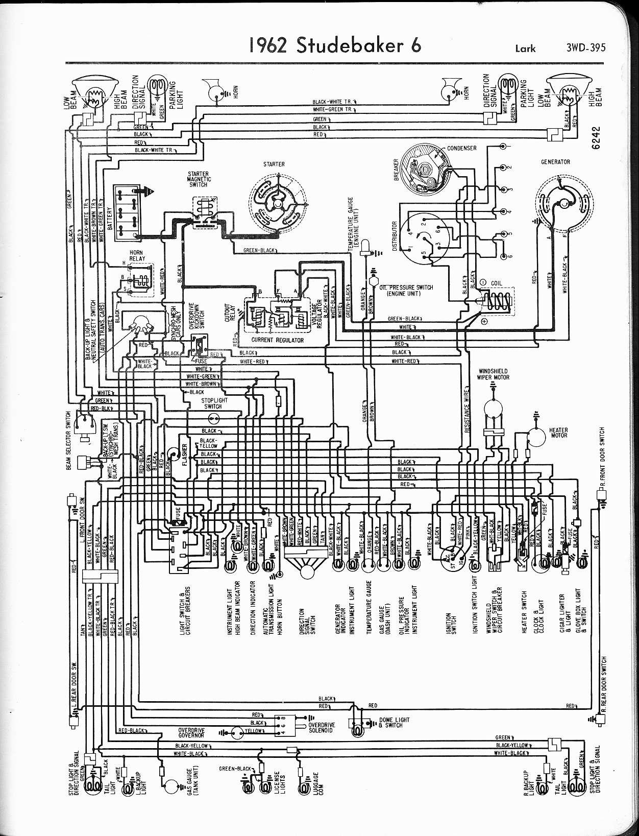 wiring diagram for 1963 64 studebaker hawk