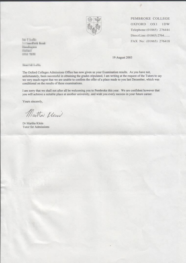 rejecting a job offer letter