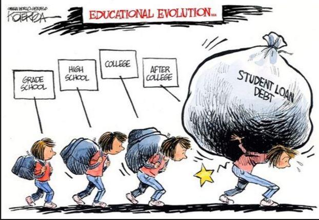 education evolution cartoon - Student Loan Borrowers Assistance