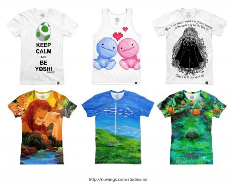 Nouveau sur la boutique Nuvango de Studinano : les t-shirts all-over ! Mettez de la couleur dans votre été ;)