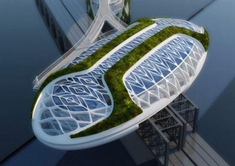 Représentation en 3D du projet Anti-Smog par Vincent Callebaut.