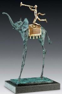 Salvador Dali, Le triomphe de l'éléphant, 1975