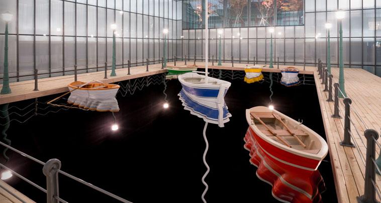 Leandro Erlich, Port of Reflections, Séoul, Corée, 2014