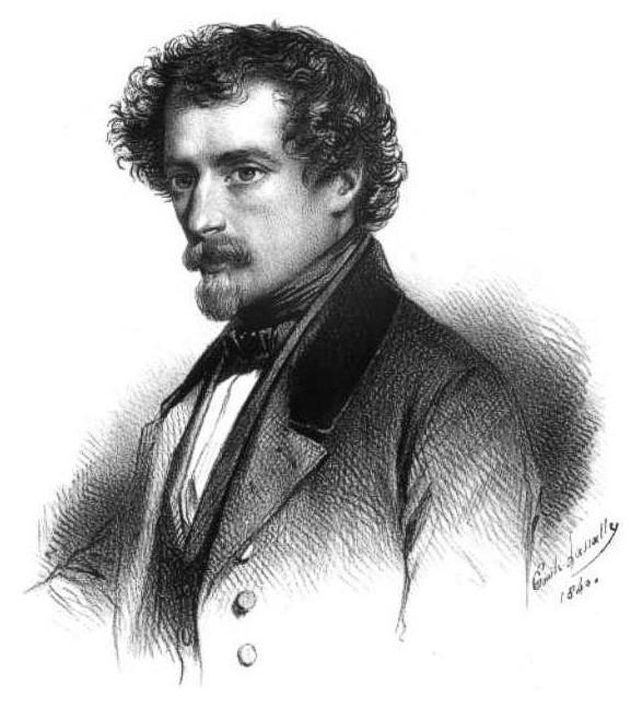Gravure de Emile Lassalle représentant J.J. Grandville