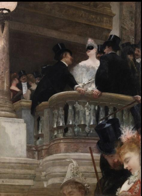 Henri Gervex (1852-1929)Le bal de l'Opéra, Paris1886Huile sur toileH. 85 ; L. 63 cmCourtoisie Galerie Jean-François Heim, Bâle© Photo courtesy of Galerie Jean-François Heim, Basel / cliché Julien Pépy