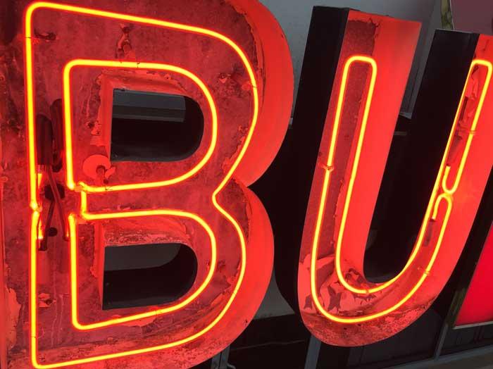Asian Buffet- Neon Lettering Repair Studio B Signs