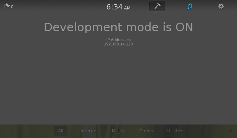 Tablet OS Development Mode