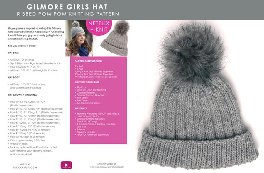 Gilmore Girls Hat (Knitting Pattern) Studio Knit