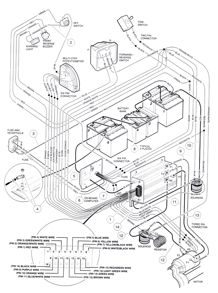 48v Golf Cart Wiring Diagram Electronic Schematics collections