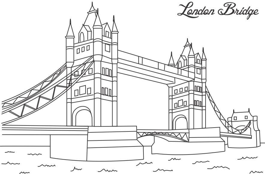 Collection of Landmarks Around The World Coloring Pages - Coloring - copy make your own coloring pages online