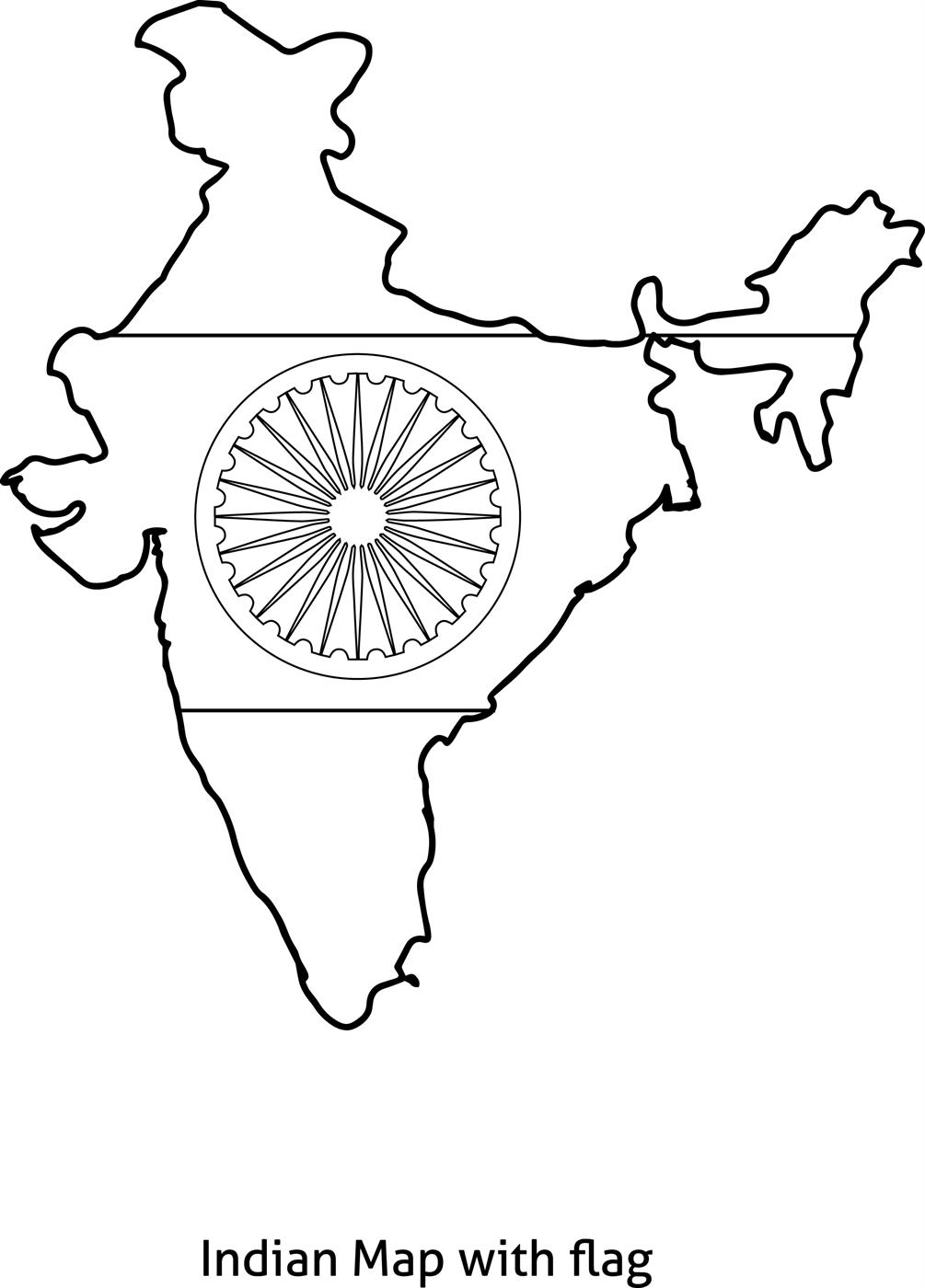 Flag Of India Coloring Page Miakenasnet