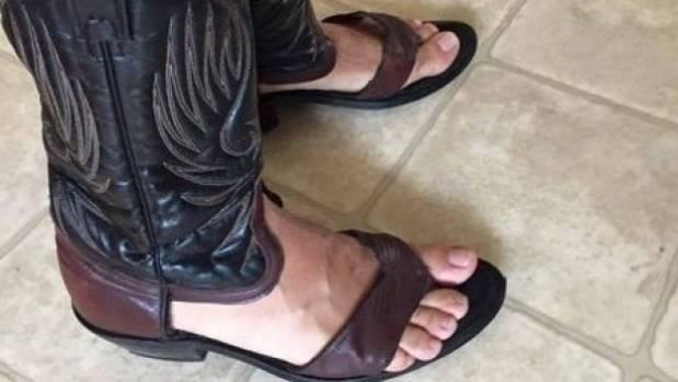 Redneck Boot Sandals - oh, the monstrosity.