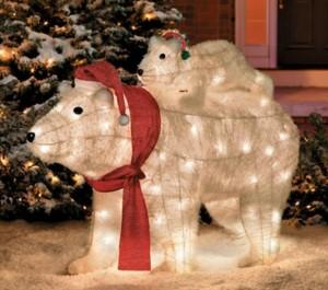 Polar Bear Lighted Lawn Ornament