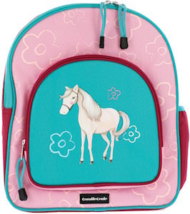 Girls Pink And Blue Horse Backpack